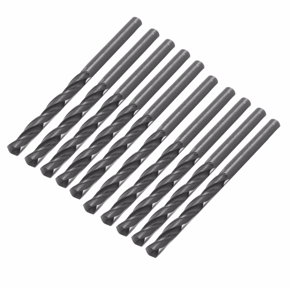 UXCELL 10PCS 2.54.63.25mm Twist Drill Bits HSS High Speed Steel Drill Bit Set Micro Straight Shank Drilling Electric Tools
