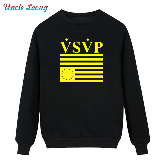 2016 Winter Style ASAP ROCKY High-quality Men VSVP Mens Fashion Printed Fleece Hoodies Sweatshirt Free Shipping
