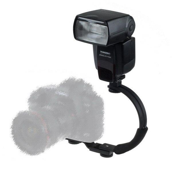 C Shaped Bracket F Flash LED Video Light DC DSLR SLR Camera Mini DV Camcorder