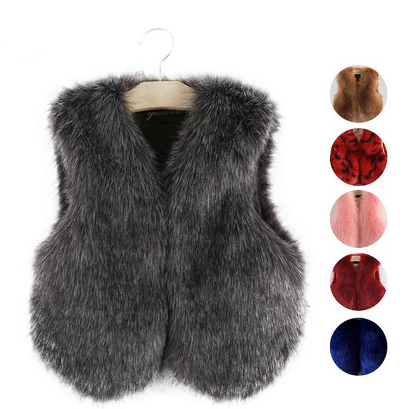 Household Matching Garments Winter Lady's Vest Fake Fur Household Clothings Kids Outfits Lady Waistcoats Mom Daughter Fur Vest