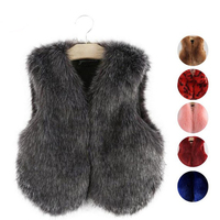 Family Matching Clothes Winter Girl's Vest Faux Fur Family Clothings Children Outfits Girl Waistcoats Mother Daughter Fur Vest