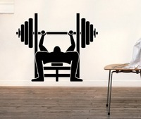 Body builder gym inflated body man bar Room Stylish Wall Art Sticker Decal