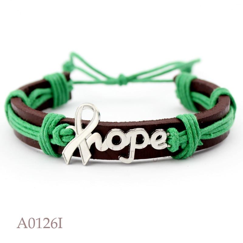 10pcs Lot I Wear Green For Mental Health Adrenal Kidney
