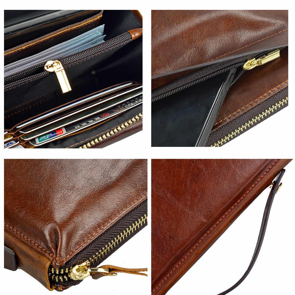 有名なブランド男性 clucth 財布メンズロングデザインの本革財布メンズクラッチ財布 carteiras mujer クラッチ男便利なバッグ
