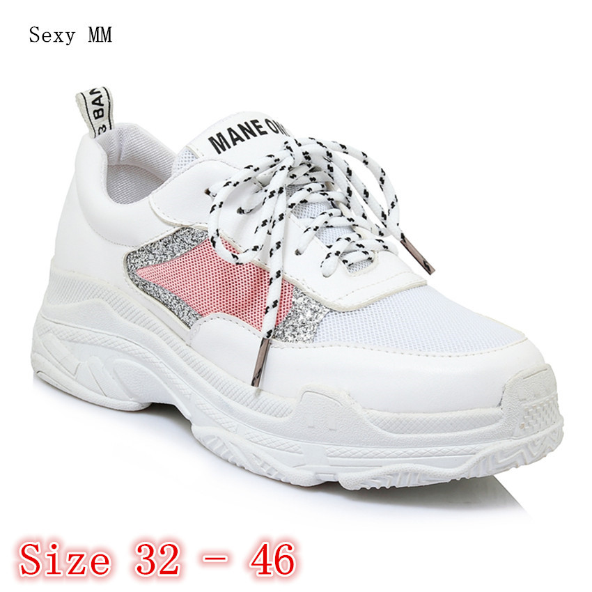 Flats Women Trainers Breathable Woman Casual Skate Walking Flat Shoes Zapatillas Mujer Small Plus Size 32 - 40 41 42 43 44 45 46 forudesigns fashion women flat shoes female teens girls floral print casual flats breathable walking shoes for woman plus size