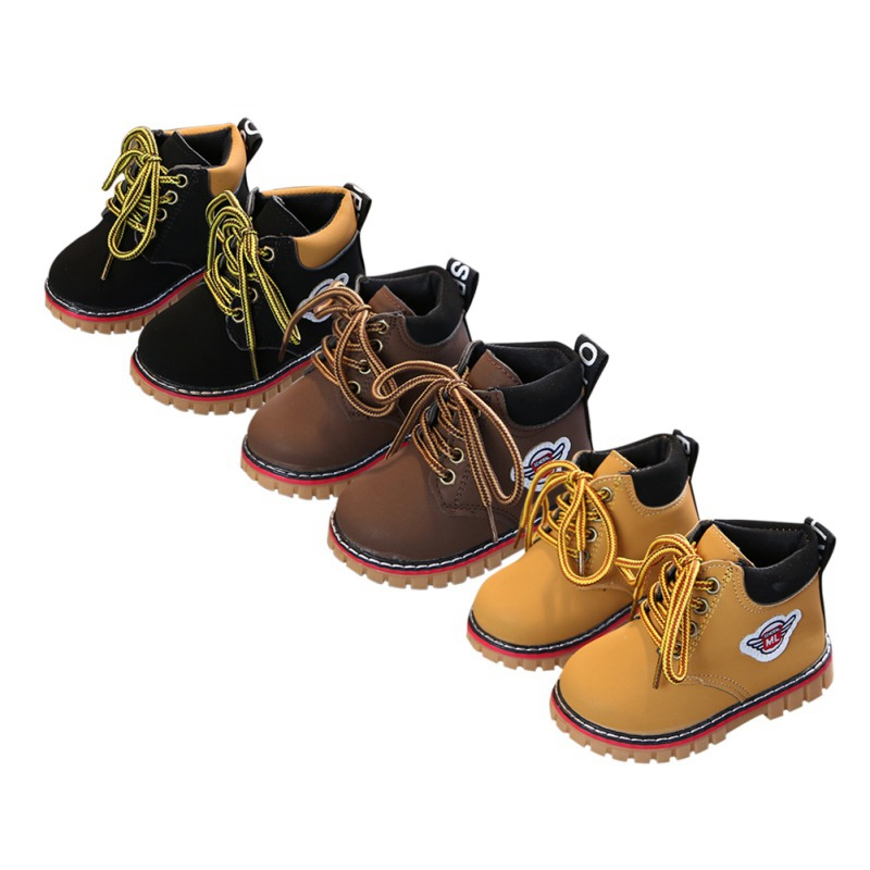 Comfy kids winter Child Leather Snow Boots For Girls Boys Warm Martin Boots Shoes Casual Plush Child Baby Toddler Shoe 2019Comfy kids winter Child Leather Snow Boots For Girls Boys Warm Martin Boots Shoes Casual Plush Child Baby Toddler Shoe 2019