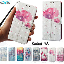hot deal buy 3d bling flowers flip leather case for xiaomi redmi 4a stand wallet leather cover xiaomi redmi 4a card holder phone cases