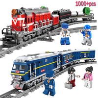 New City Series modelS the Cargo Set Building Train track Blocks Bricks Train Compatible Legoings Educational Toys For Children