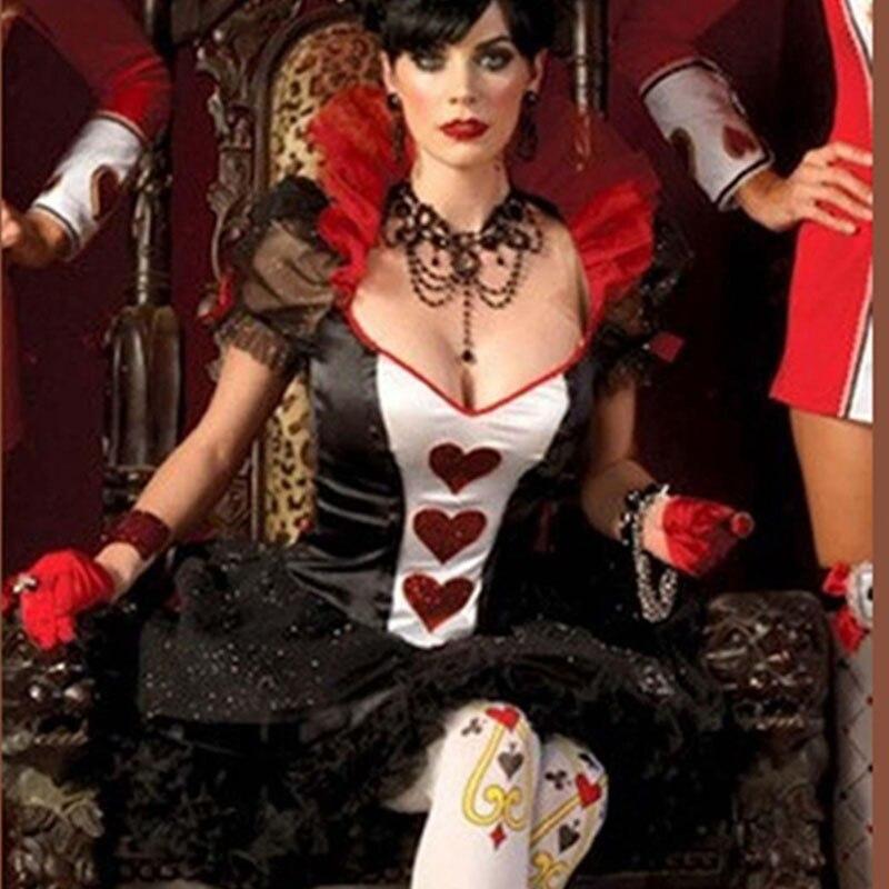 Gambling house queen costume, Las Vegas costume, poker queen costume w299093