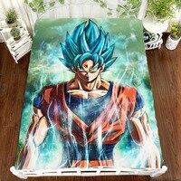 Dragon Ball Z Anime Printing Bed Sheet Super Saiyan Vegeta Son Goku Children Room Bed Sheet Bed Linen(NO cover pillowcase)