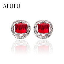 Earrings crystal red for