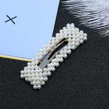 Metal Hair Barrettes Rhinestone Women Clips Imitation Pearl Hairpins & Styling Tools Clamp Jewelry