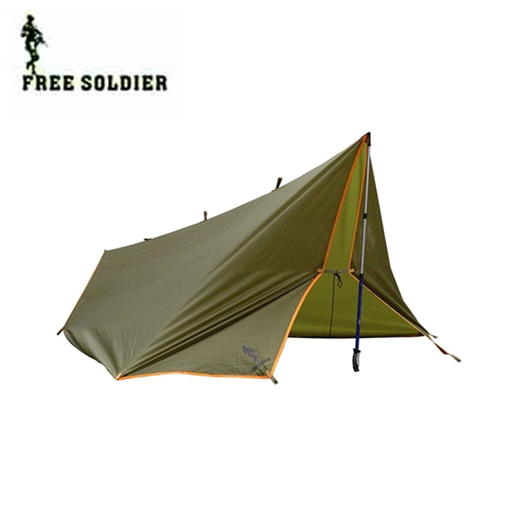 Free Soldier Camping Tent Multifunctional Outdoor Double Layer 4 Season anti-UV Sun Shelter Tent for Hiking Camping and Beach good quality outdoor camping tent double layer gazebo 5 8 person sun shelter 4 season beach tent ultralight party tent