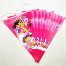 kids birthday party supplies dora paper banner pennant bunting Flag Wedding favors event baby shower decoration set