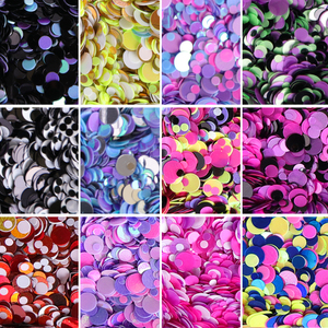 Image 2 - 1Set Colorful Nail Glitter Sequin Dust Round Shiny Nail Flakes Mixed Size UV Gel Manicure Tips Paillette Nail Art Decor LAD 1