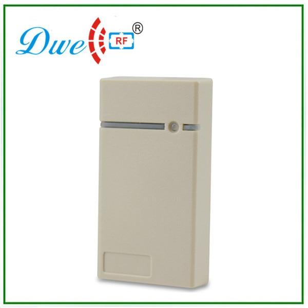 DWE CC RF wired proximity sensor smart card reader in wiegand 26 Bit color white wiegand 26 input