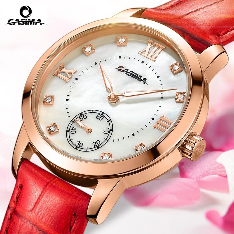 ФОТО CASIMA Hot-selling Luxury brand watches women 2016 fashion leisure female waterproof womens quartz wirst watch leather
