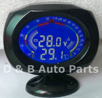 Automobile Gauge Tuning LCD Digital Water Temperature Gauge Voltage Meter 2 In 1 For Sale