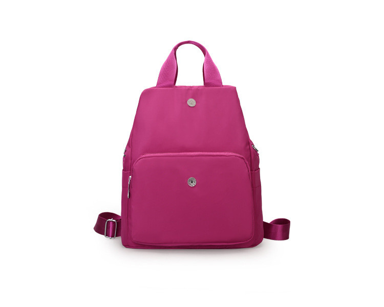 New style backpacks crossbody bag shoulder bag pink purple black solid bag for women