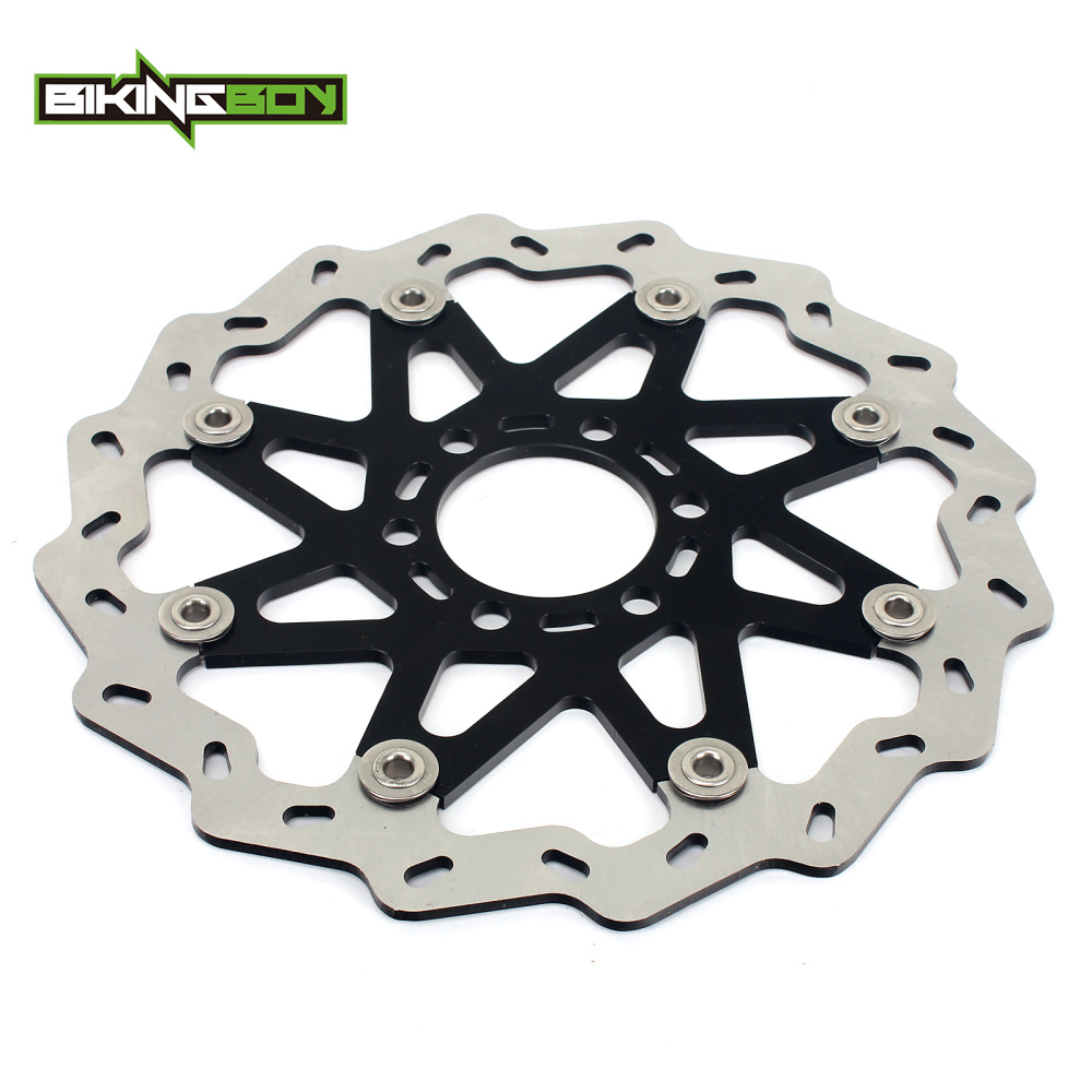 BIKINGBOY For KTM Duke 125 2011 2012 2013 11 12 13 Duke 250 2012 2013 12 13 CNC Aluminum Wave Motorcycle Front Brake Disc Rotor free shipping aluminium wave motorcycle accessories front brake disc rotor disk for ktm 125 200 390 duke 2013 2014
