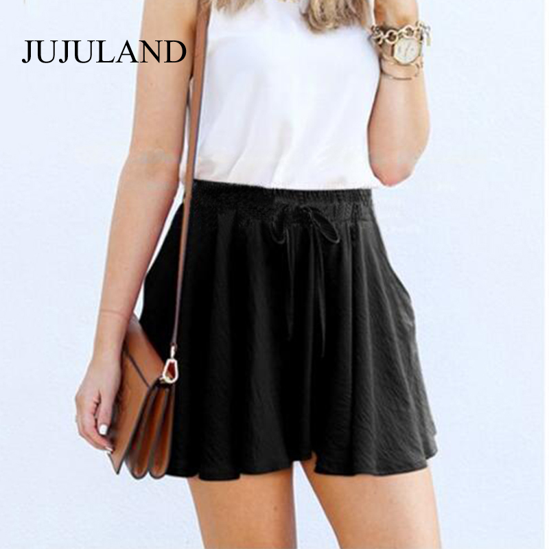 5XL Plus Size Shorts Women Loose Casual High Waist Shorts Cotton Wide Leg Black Shorts Feminino Skirt Shorts 4XL