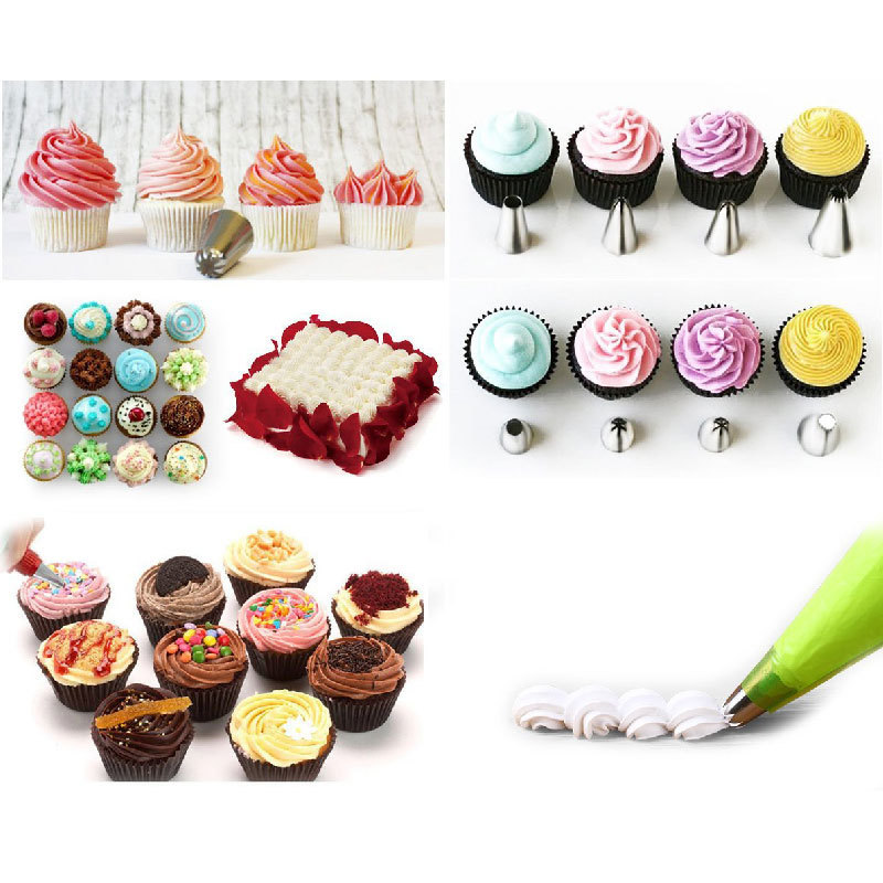 26pcs Stainless Steel Cake Decoration Tools Baking Icing Piping Nozzles For Pastry Cake <font><b>Decor</b></font> Sugar Craft <font><b>Home</b></font> Kitchen Tool
