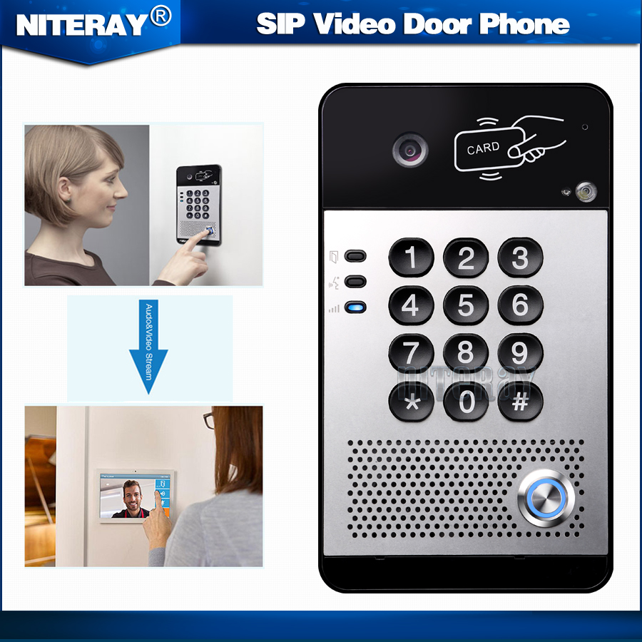 SIP Video Door Phone Video Intercom System Compatible With Asterisk/Alcatel/Avaya/Cisco PBX телефон cisco uc phone 7821