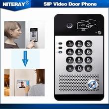 SIP Видео-Телефон Двери Видео Домофон Совместимость С Asterisk/Alcatel/Avaya/Cisco АТС