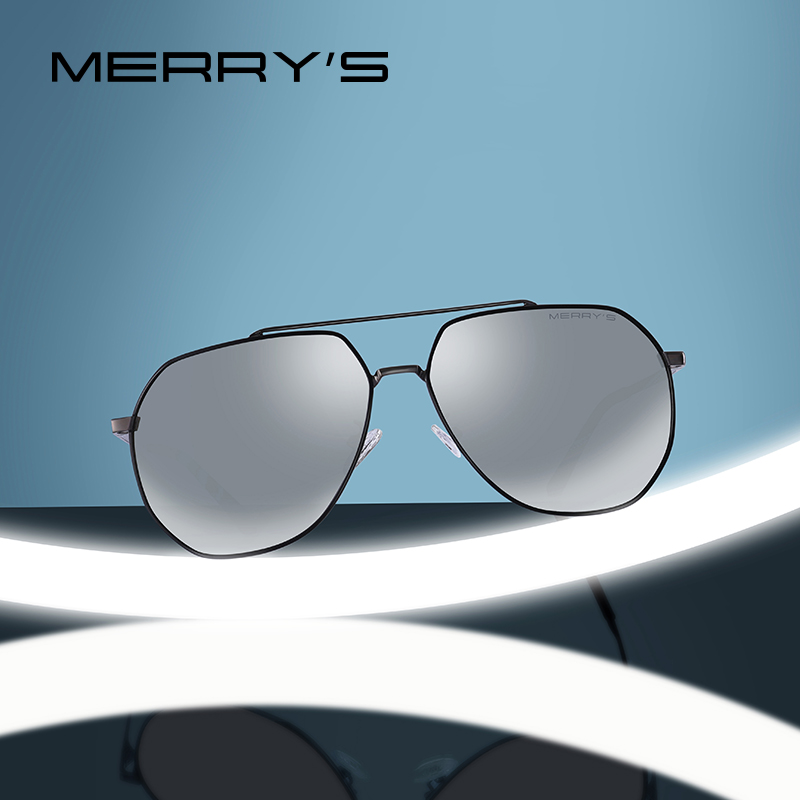 MERRYS DESIGN Men Classic Pilot Sunglasses HD Polarized Sun glasses For Driving Luxury Shades UV400 Protection S8220