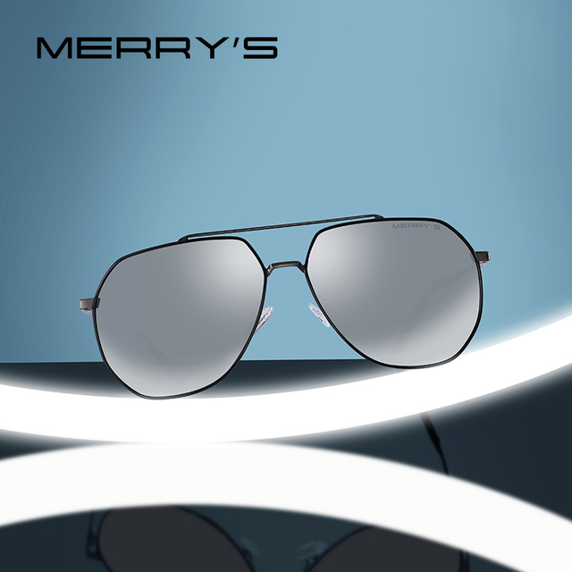 e4f437a682 MERRYS DESIGN Men Classic Pilot Sunglasses HD Polarized Sun glasses For  Driving Luxury Shades UV400 Protection S8220