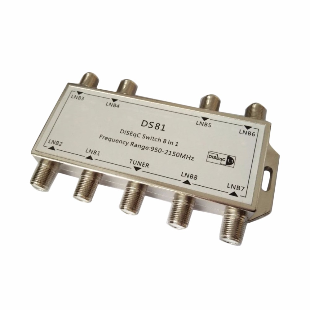 New1pcs Gst 8101 8 In 1 Satellite Signal Diseqc Switch Lnb Led Pwm Tubelight Circuit Atomizer Coil Temperature Controller Receiver Multiswitch Free Shipping