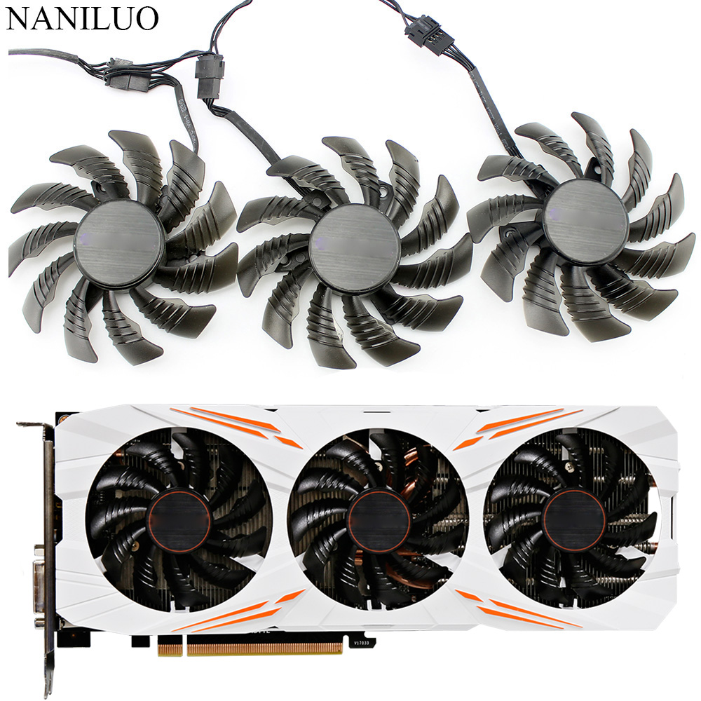75MM T128010SU 0.35A Cooling Fan For Gigabyte AORUS GTX 1060 1070 1080 G1 GTX 1070Ti 1080Ti 960 970 980Ti Video Card Cooler Fan