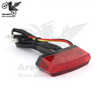 Mini red black limpar lente da luz de freio luz da cauda da motocicleta moto LEVOU licença placa lâmpada indicadora moto dispositivo luz de advertência