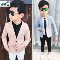 Fashion 2018 New Autumn Kids 4PCS Formal Suits with Tie Boys Party Costume Suits Boys Pink Blazer Weddings Suit Hot Sale S8O501A