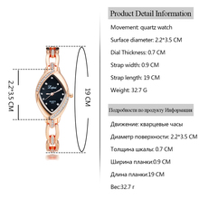 Luxury Ladies Bangle Watches for Women Rhombus Cheap Gold Rhinestone Watch