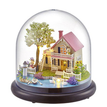 SLPF Doll House Miniature DIY Dollhouse With Furnitures Wooden House Building Model For Children Christmas Birthday Gift Toy J11 hoomeda 13828 the star dreaming house diy dollhouse with light music miniature model gift decor toy gift for friend children