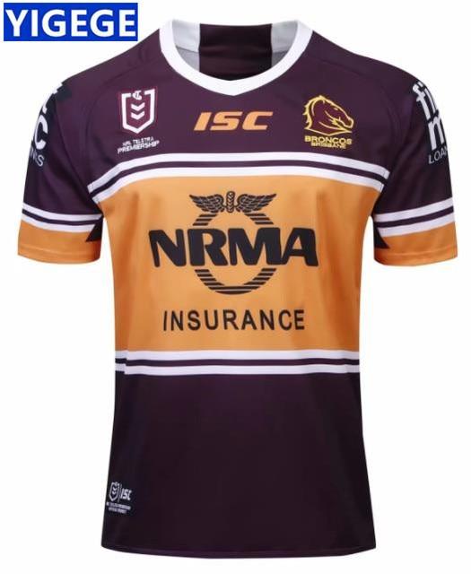 d47f3ee0 US $18.17 21% OFF|YIGEGE BRISBANE BRISBANE BRONCOS 2019 MEN'S HOME JERSEY  rugby Jersey League shirt nrl jersey Australia BRISBANE BRONCOS jerseys-in  ...