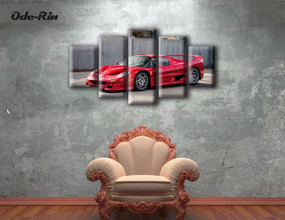 High-definition printing sports car still life painting canvas 5 living room wallquality good module picture (no frame painting)