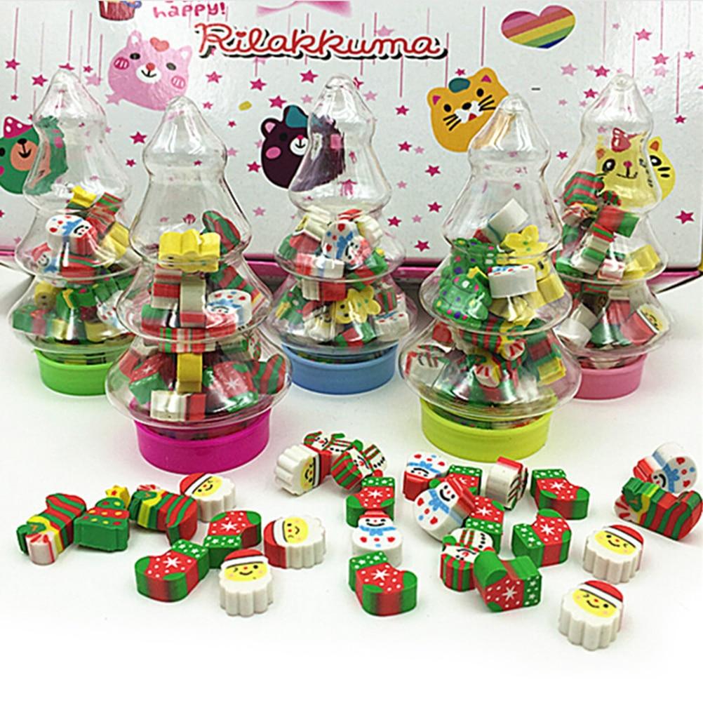 Christmas Gift For College Student: Santa Tree Mini Eraser Kawaii Designer Students Stationery