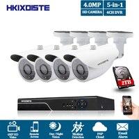 Hot 4CH Super Full HD 4MP AHD CCTV Camera DVR Video Recorder Home Outdoor Security Camera System Kit 36pcs Surveillance P2P View