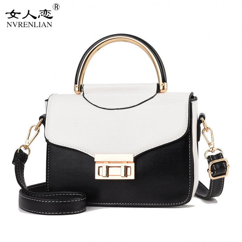 цена на Fashion Luxury Color Hit PU Leather Ladies Shoulder Bag Ladies Handbag High Quality Girl Bag Casual Shopping Travel Bag 2018 New