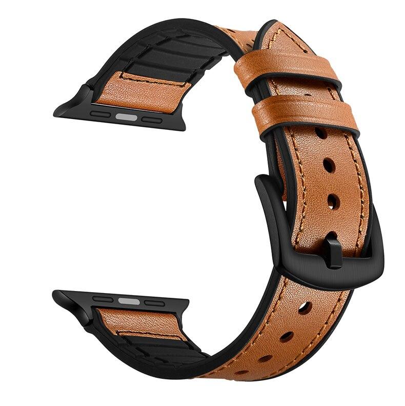 Apple Watch Bracelet Cuir et Silicone