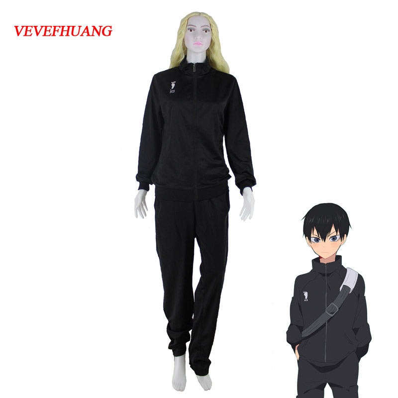 VEVEFHUANG Anime Haikyuu Uniform Karasuno High School Volleyball Club Men Boy Jacket Clothes Cosplay Costumes Sportswear