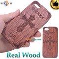 3d santa biblia 100% caso de madera para iphone 5 5s 6 6 s 6 más 6 s plus caso de madera de madera real fundas cubierta de coque para iphone 5 6 Plus