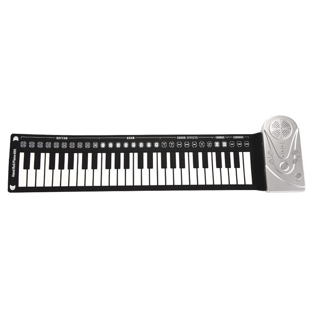 Gift Electronic Keyboard Flexible Folding 49 Keys Multi Style Music Portable Silicone Roll-Up Piano Musical Instrument Children