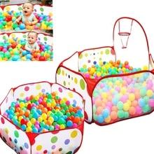 Új szabadtéri Baby Playpen gyerekek Indoor Ball Pool Play sátor Kids Safe Polka Dot Hatszögletű Playpen hordozható összecsukható játszótér