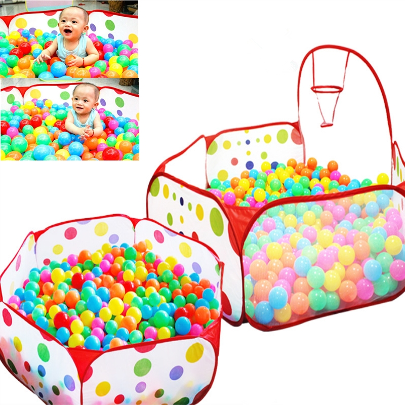 Baby Playpen Safety Tent for Children Indoor Ball Pool Play Tent Kids Polka Dot Hexagon Playpen Portable Foldable Playpens