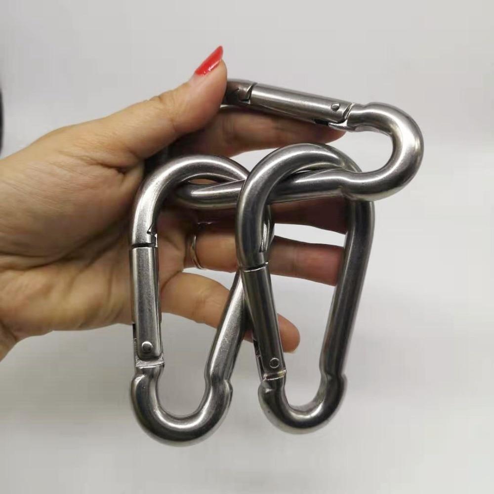 1pcs M10 Stainless Steel 304 Carabiner Carbine Snap Hook Key-Lock 304