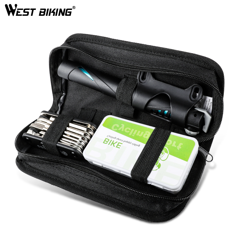 WEST BIKING Portable Bicycle Repair Kits Bag Multifunction Tools MTB Road Bike Cycling Equipment Wrench Bike Repair Tool Sets 50ml mtb cycling bicycle chain special lube lubricat oil cleaner repair grease bike lubrication