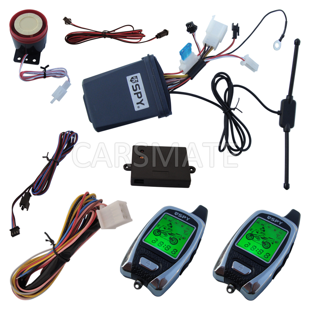 In Stock Spy Motorcycle Two Way Alarm System With Time